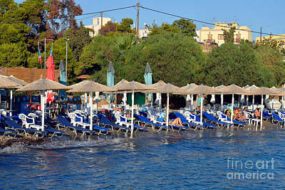 Photograph - Beach In Aegina Town by George Atsametakis
