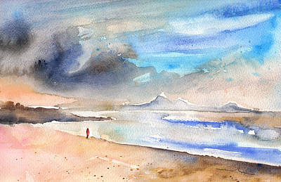 Painting - Beach In Lanzarote by Miki De Goodaboom