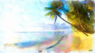 Painting - Beach In Paradise by Wayne Pascall