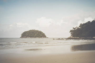 Photograph - Beach In Thailand With Retro Instagram Style Filter by Brandon Bourdages