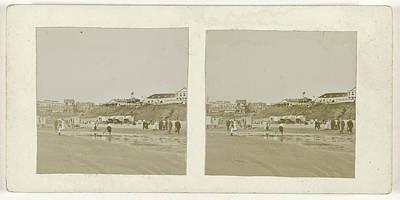 Zandvoort Drawing - Beach In Zandvoort, Anonymous, 1880-1910 by Artokoloro