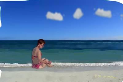 Painting - Beach Lady by R B Harper