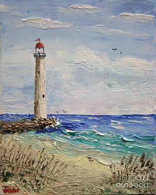 Beach Lighthouse Art Print by Jimmie Bartlett
