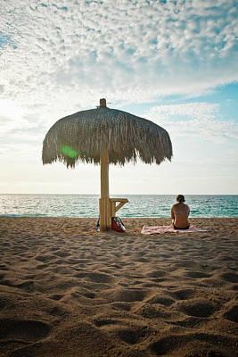 Palapas Wall Art - Photograph - Beach Living by Christopher Kimmel