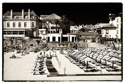Photograph - Beach Lounges In Cascais by John Rizzuto