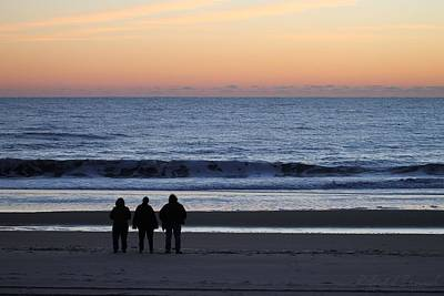 Photograph - Beach Lovers Awaiting Sunrise by Robert Banach