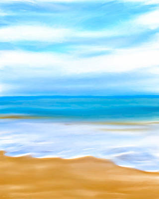 Digital Art - Beach Memories by Mark E Tisdale