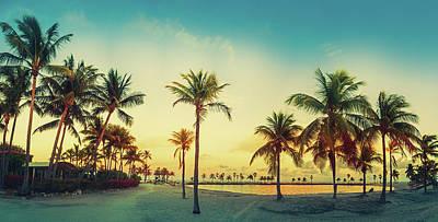 Photograph - Beach Miami Panorama by Thepalmer