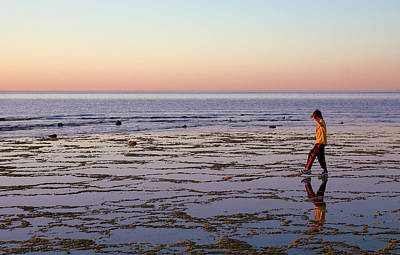 Photograph - Beach Mirror Walk by Dave Dilli