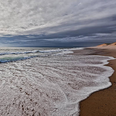 Dunes Photograph - Beach Morning Square by Bill Wakeley