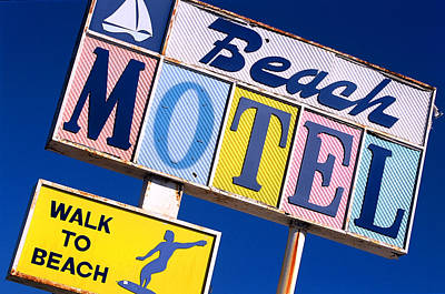Beach Motel Art Print