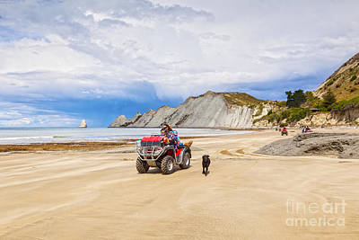 Hawkes Bay Photograph - Beach Near Cape Kidnappers New Zealand by Colin and Linda McKie