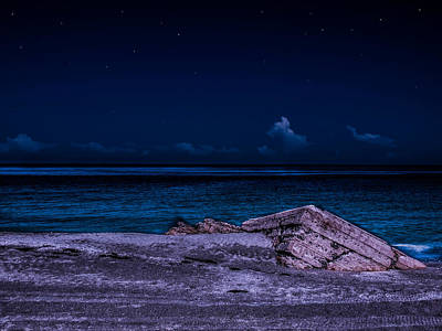 Photograph - Beach Night by Randy Sylvia