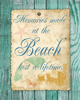 Beach Notes-a Original by Jean Plout