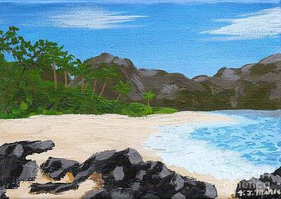 Painting - Beach On Helicopter Island by Vicki Maheu
