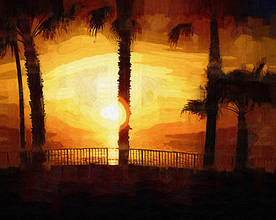 Painting - Beach Overlook Sunset by Kirt Tisdale