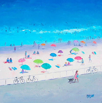Bondi Beach Painting - Beach Painting - Happy Days by Jan Matson