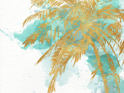 Palm Mixed Media - Beach Palm Watercolor by Patricia Pinto