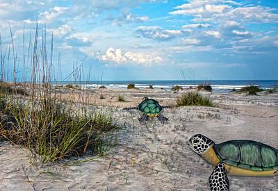 Fantasy Digital Art - Beach Pals by Betsy Knapp