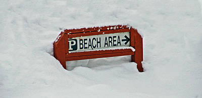 Ice Photograph - Beach Parking by Aimee L Maher Photography and Art Visit ALMGallerydotcom