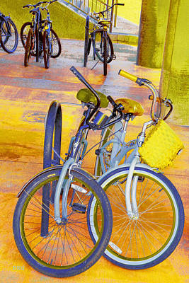 Photograph - Beach Parking For Bikes by Ben and Raisa Gertsberg