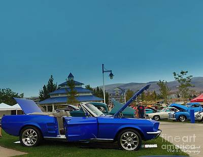 Photograph - Beach Party Car Show by Bobbee Rickard
