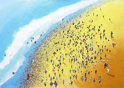 Gathering Painting - Beach Party by Neil McBride