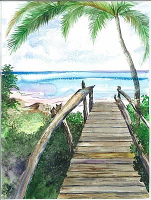 Beach Path Art Print