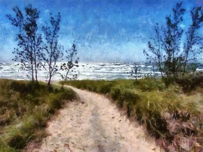 Beach Path Art Print by Michelle Calkins