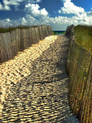 Beach Path Art Print by Raymond Earley