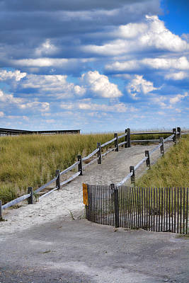 Photograph - Beach Path Through The Dunes by Beth Sawickie