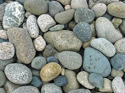 Art Print featuring the photograph Beach Pebbles by Gerry Bates