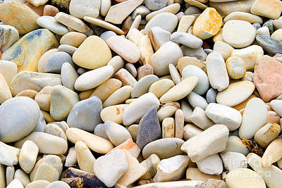 Photograph - Beach Pebbles by Richard J Thompson