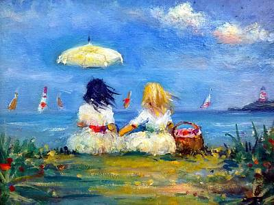 Painting - Beach Picnic by Philip Corley