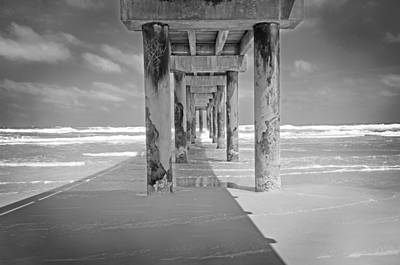 Nostalgic Photograph - Beach Pier by Steven Michael