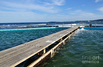 Photograph - Beach Pool With Ocean View by Kaye Menner