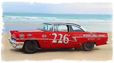Beach Race Car 226 Art Print