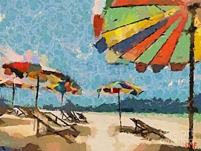 Beach Rainbows Art Print by Dragica  Micki Fortuna