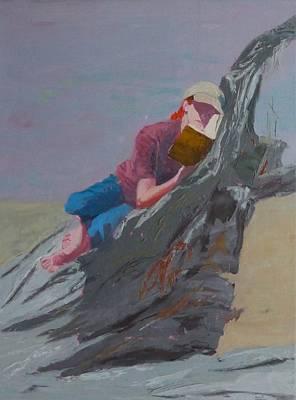 Painting - Beach Reader by Irena  Jablonski