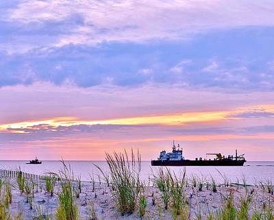 Photograph - Beautiful Sunrise At The Beach by Kim Bemis