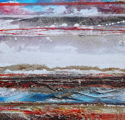 Mixed Media - Beach Rhythms And Textures IIi by Mike   Bell