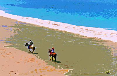 Beach Riders Art Print