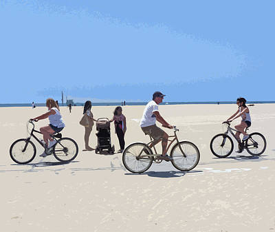 Digital Art - Beach Riders by Nancy Merkle