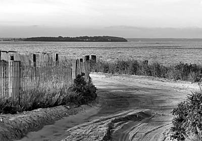 Photograph - Beach Road Black And White  by Janice Drew
