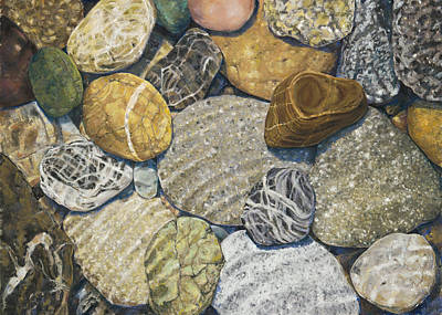 Painting - Beach Rocks Of The Puget Sound  by Nick Payne