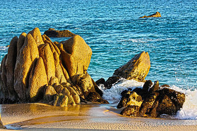 Blue Photograph - Beach Rocks by Shane Bechler