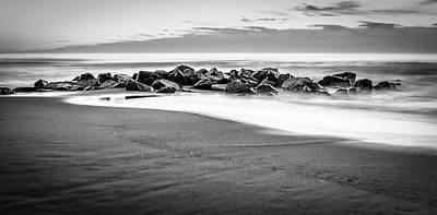 Beach Rocks Sky Art Print