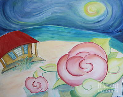 Beach Rose Art Print by Teresa Hutto