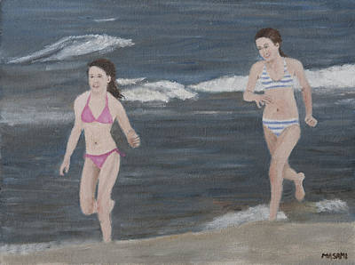 Painting - Beach Run by Masami Iida