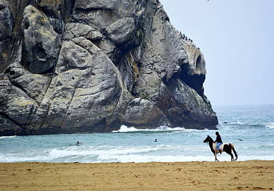 Photograph - Beach Scene by AJ  Schibig